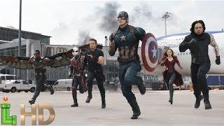 Captain America Civil War - AIRPORT BATTLE [HD 1080] (Only Fight Scenes)