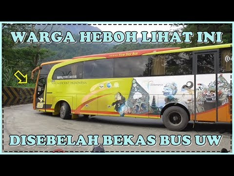 Warga Sitinjau Lauik Heboh Lihat Bus Ini