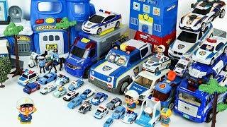 경찰차 총출동 뽀로로 변신경찰 자동차로 장난감 마을을 지켜요 Transforming Police Car Toys