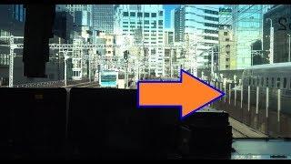 先発列車の特急に追いついてしまう新橋駅~東京駅間を走行する上野東京ライン常磐線下りE531系の前面展望