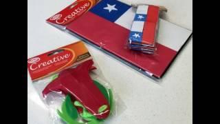 Banderas Chilenas Goma Eva Creative