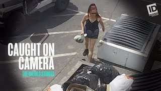 At first, it looks like something people do every day. a woman casually tosses what seems to be bag of trash into dumpster. but it's not garbage - a...