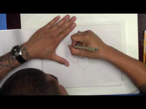 How To Draw A Lotus Flower Tattoo Design - Element Tattoo Supply