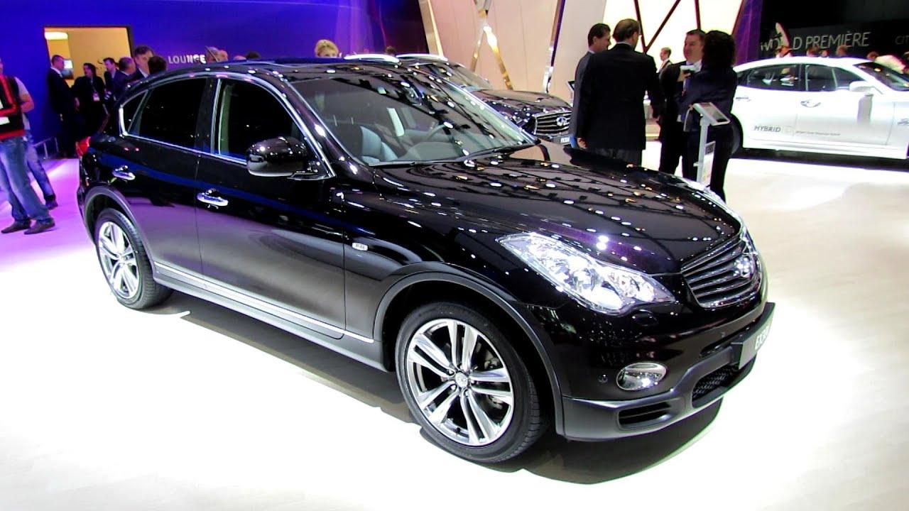 2013 infiniti ex30d awd exterior and interior walkaround 2012 paris auto show
