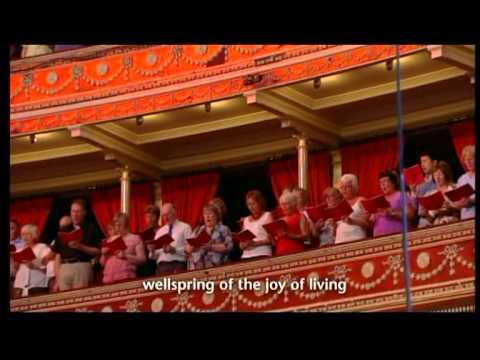 ODE TO JOY-JOYFUL, JOYFUL, WE ADORE THEE at ROYAL ALBERT HALL,LONDON