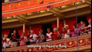 ODE TO JOY-JOYFUL, JOYFUL, WE ADORE THEE at ROYAL ALBERT HALL,LONDON