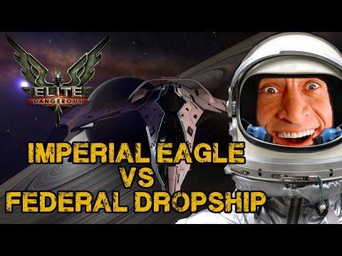 Elite: Dangerous - Imperial Eagle vs Federal Dropship Battle