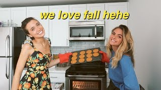 baking pumpkin cookies with summer & hannah