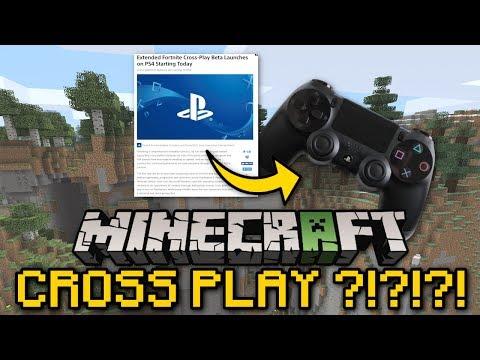 Minecraft - CROSS PLAY ?!?!? [ Console / Bedrock ] MCPE / PS4 / Xbox