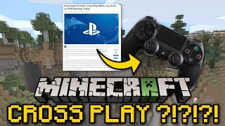 Minecraft - CROSS PLAY ?!?!? [ Console / Bedrock ] MCPE / PS4 / Xbox / Bedrock