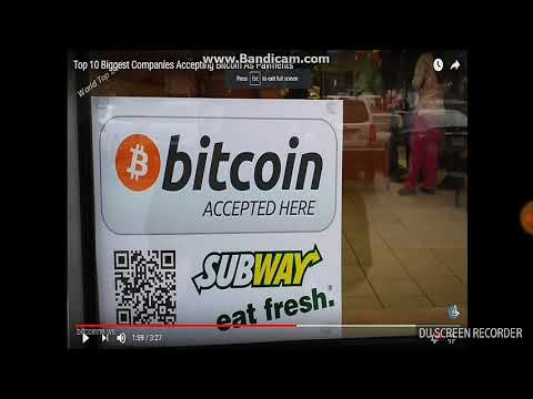 World's Biggest Top 35 Companies Accepting Bitcoin As A Mode Of Payment