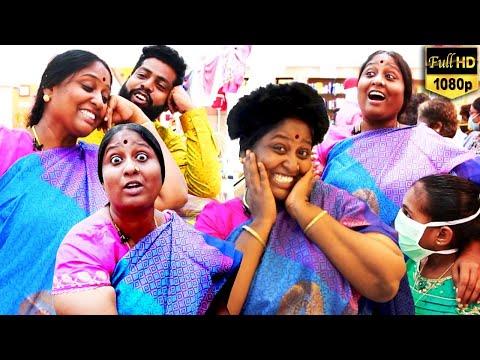 என் புருஷனை பேசுனா உனக்கு ஏன் எரியுது - தீபாவின் Kalakkal Shopping | Velavan Stores | Chennai | HD