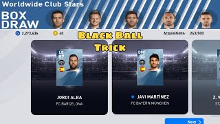 Black Ball Trick in Worldwide Club Stars Box Draw Pack PES 2020 Mobile trick