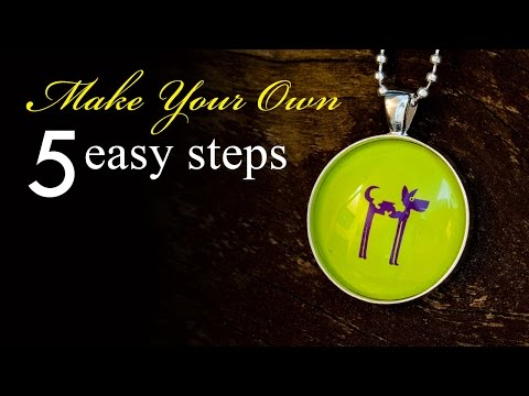 How to Make a Dog Tag Pendant Necklace - silver round bezel tray necklace tutorial