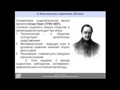 История развития социологии