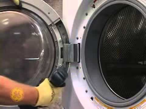 Awesome GE Front Load Washer Door Asm Latch Hinge   YouTube