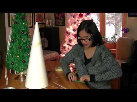DIY CHRISTMAS PAPER TISSUE FLOWER TREE