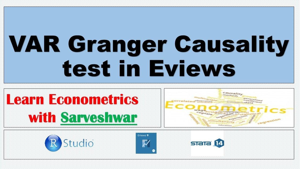 VAR Granger Causality test in Eviews
