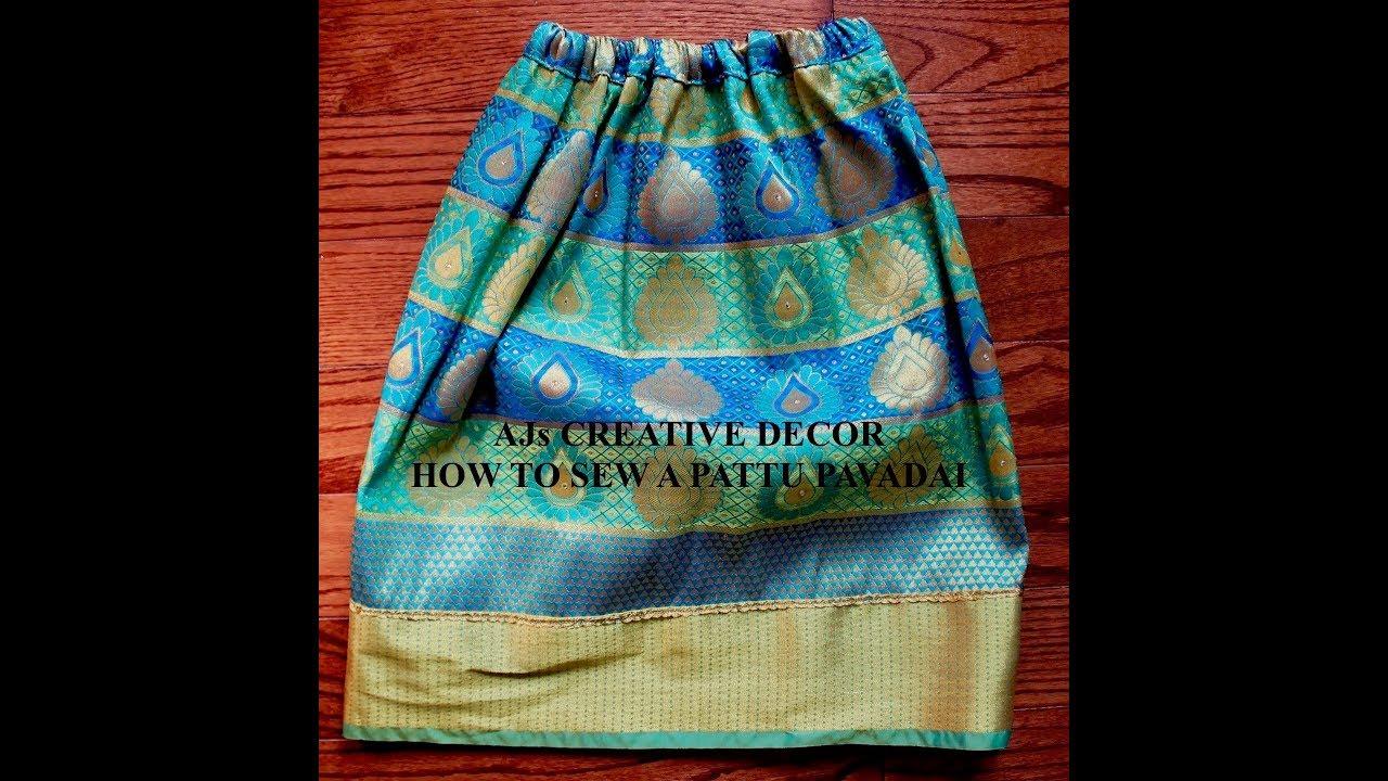 How To Sew A Pattu Pavadai
