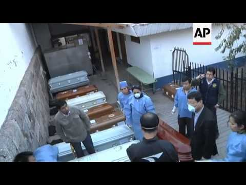 SOUTH KOREAN RELATIVES OF CRASH VICTIMS VISIT MORGUE