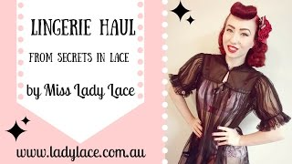 Lingerie Haul from Secrets In Lace by Miss Lady Lace