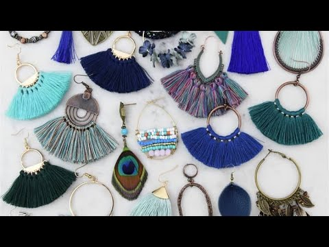 12 SILK Thread TASSEL EARRINGS DIY JEWELRY IDEAS
