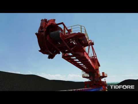 TIDFORE Bulk Material Handling - Boom Type Bucket Wheel Stacker Reclaimer