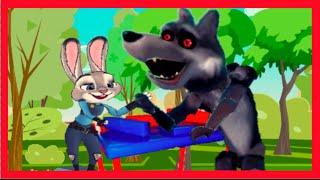 ✔ Лапу не ДАВИ!!!Лесной АРМРЕСТЛИНГ или Заяц побеждает Волка Мультик  для детей ✔