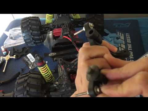 Racing2Learn: 1/8 Monster Truck Losi LST XXL2-E: Fixing Broken Shock Tower, Various Options