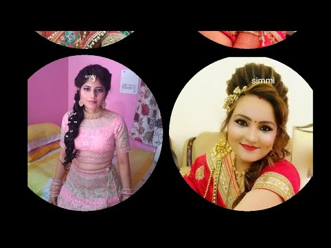 Latest party makeup and hairstyle.very easy makeup.