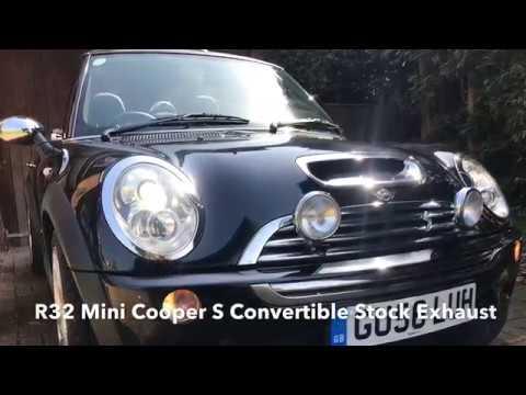 R52 Mini Cooper S Convertible Stock Exhaust Sound