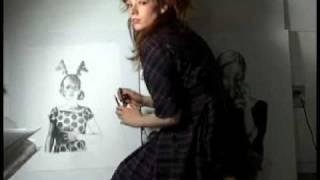 Mercedes Helnwein Drawing
