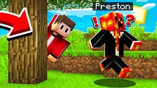 EXTREME Hide and Seek vs Preston! Minecraft PE