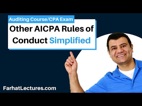 Other AICPA rules of conduct AUD CPA exam