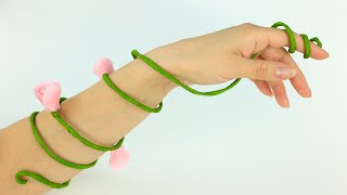 DIY Flower Arm Bracelet