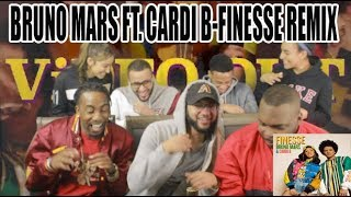 BRUNO MARS FT CARDI B-FINESSE REMIX REACTION/REVIEW