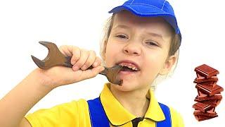 Шоколад и настоящее !!! Tisha and Ulya staged a chocolate challenge