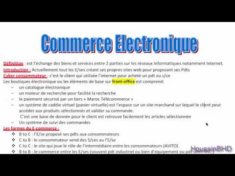 Commerce electronique resumer