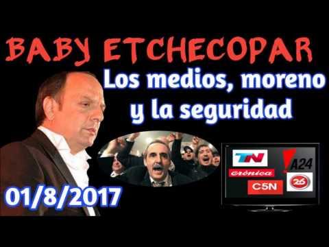 BABY ETCHECOPAR - LOS MEDIOS, ESCRACHE A MORENO Y ACTUALIDAD