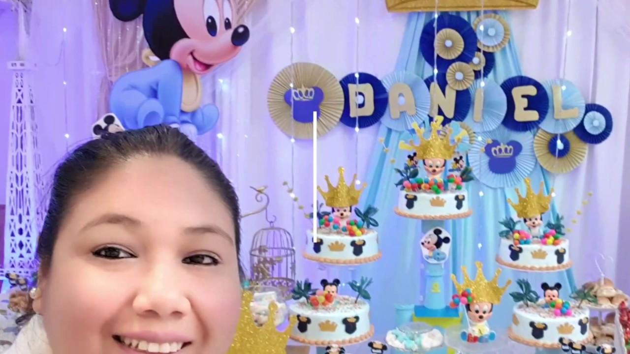 Fiesta Tematica Mickey Baby Decoracion Youtube