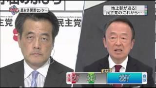 2012年の衆議院選挙開票直後のインタビューなので、 池上彰さんから質問...