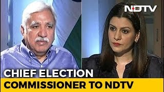"""EXCLUSIVE   """"Can't Tamper EVM, But Machines Malfunction"""": Chief Election Commissioner"""