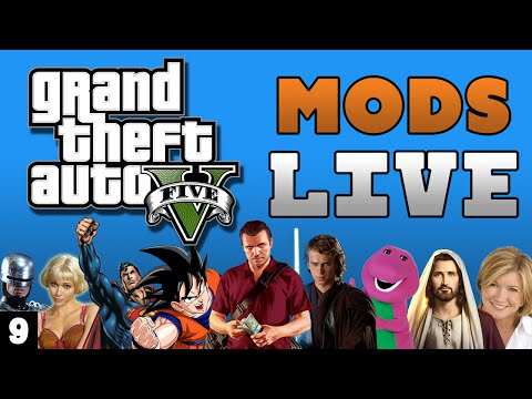 GTA 5 Mods with THE DARK KNIGHT LIVE!