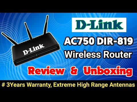 D Link AC750 Dual Band Router Review And Unboxing || D Link DIR 819 Wifi Router Unboxing & Review