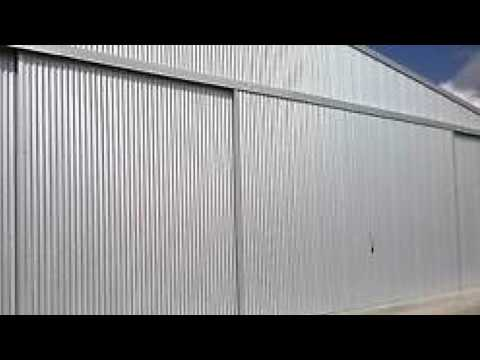 Industrial Sliding Door, Sound Effect, large metal door noise.