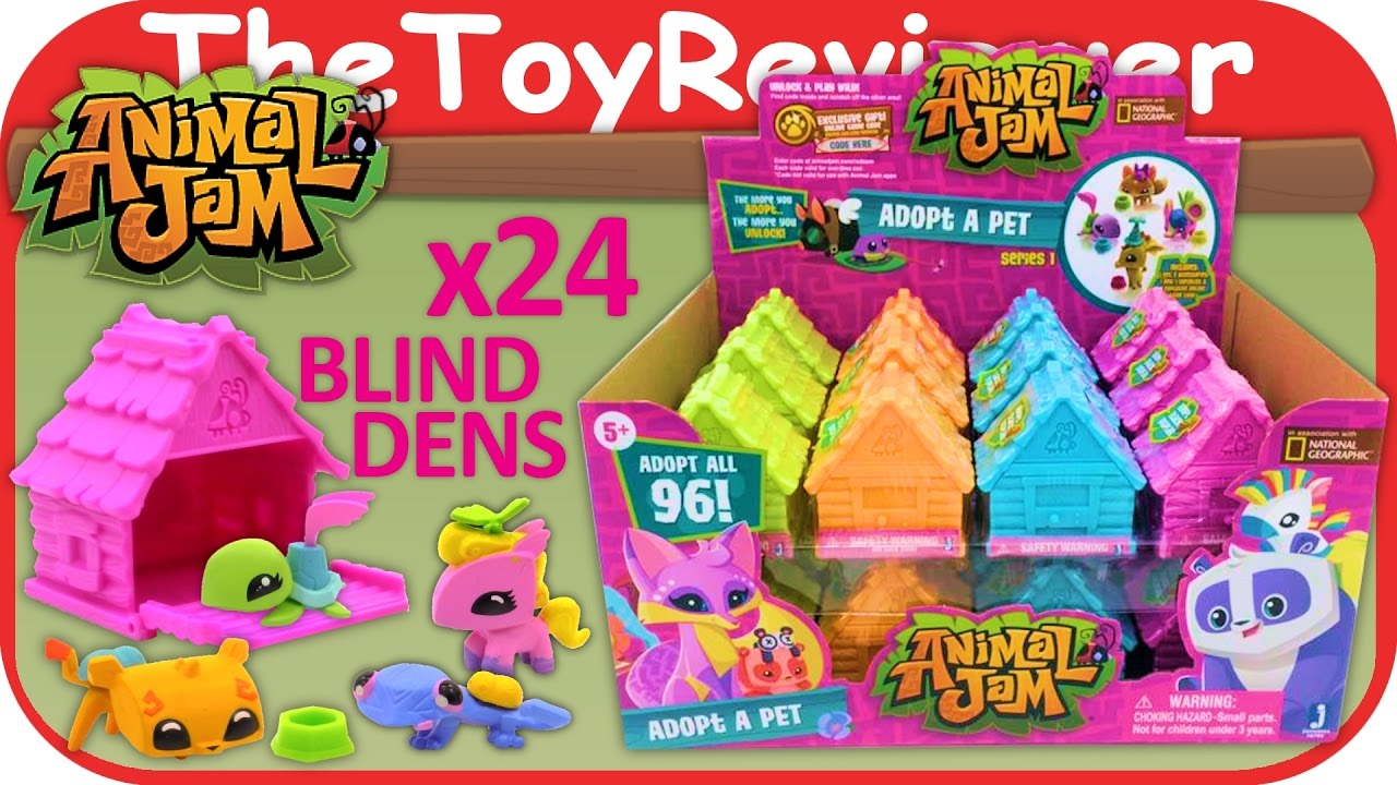 Full Box 24 Animal Jam Surprise Blind Bag Houses Game Codes Unboxing Toy  Review by TheToyReviewer