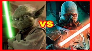Star wars versus series: Yoda Vs. Darth Malgus