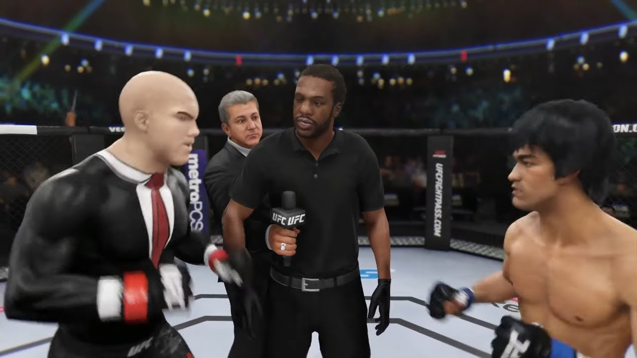 Bruce Lee vs. Agent Hitman (EA sports UFC 3)
