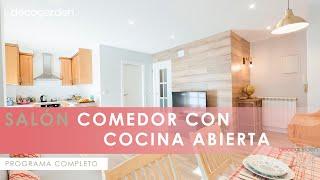 Decorar salón comedor con cocina abierta en madera - Programa completo - Decogarden