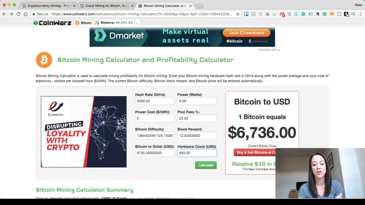 mining calculator for bitcoin
